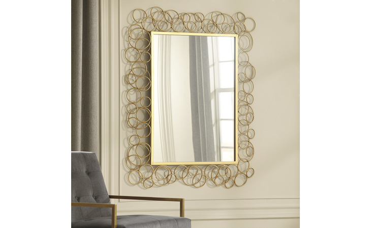 A8010104 DHAVAL ACCENT MIRROR DHAVAL GOLD FINISH