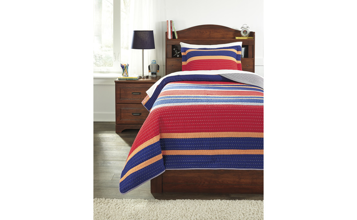 Q233001T DAMOND - MULTI TWIN QUILT SET/DAMOND/MULTI