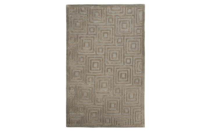 R401782 MEGABYTE MEDIUM RUG/MEGABYTE/GRAY