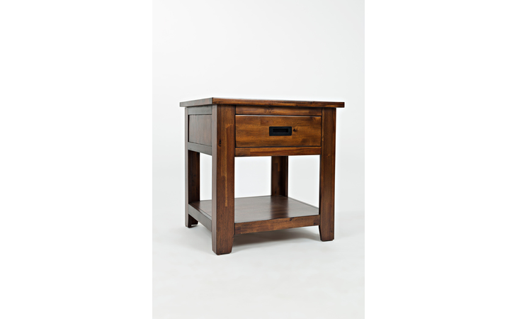 1500-3 COOLIDGE CORNER COLLECTION END TABLE W/DRAWER, SHELF