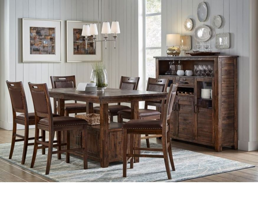1511-72T CANNON VALLEY COLLECTION HIGH/LOW FIXED TOP DINING TABLE TOP (VN)