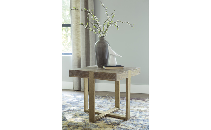T945-2 PALUXY SQUARE END TABLE/PALUXY
