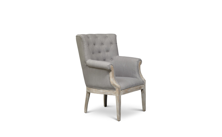PAXTON-CH-SLATE PAXTON CHAIR ACCENT CHAIR W/BUTTON TUFTING, FLARED ARMS