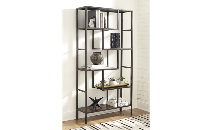 A4000021 FRANKWELL BOOKCASE/FRANKWELL/BROWN/BLACK