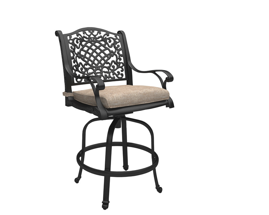 P559-130 ROSE VIEW - BROWN BARSTOOL WITH CUSHION (2/CN) ROSE VIEW BROWN