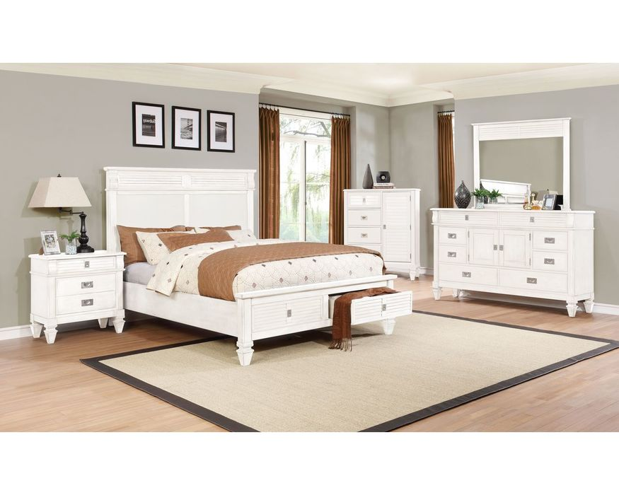 C6204W-045  WHITE DRESSER W/FULL EXTENTION DRAWER GLIDES,8 DRAWERS&2DOORS