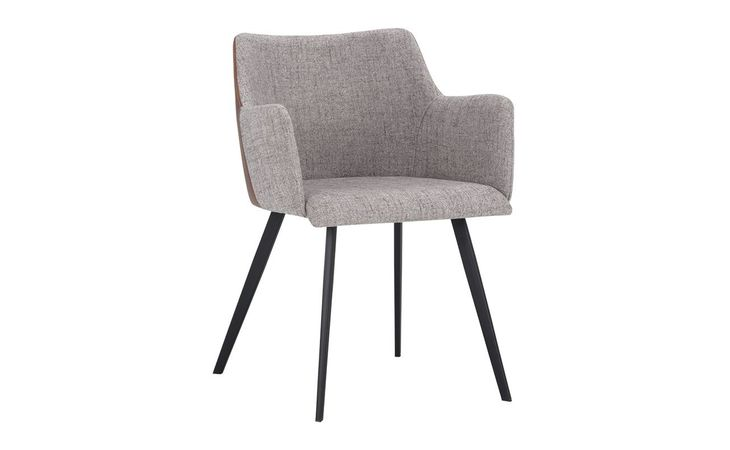 105083 GRIFFIN GRIFFIN DINING ARMCHAIR - NOVEMBER GREY / BRAVO COGNAC