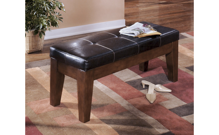 D442-00 LARCHMONT - BURNISHED DARK BROWN LARGE UPH DINING ROOM BENCH