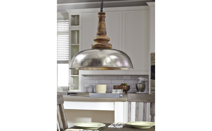 L000368 JOZIAH METAL PENDANT LIGHT (1/CN)