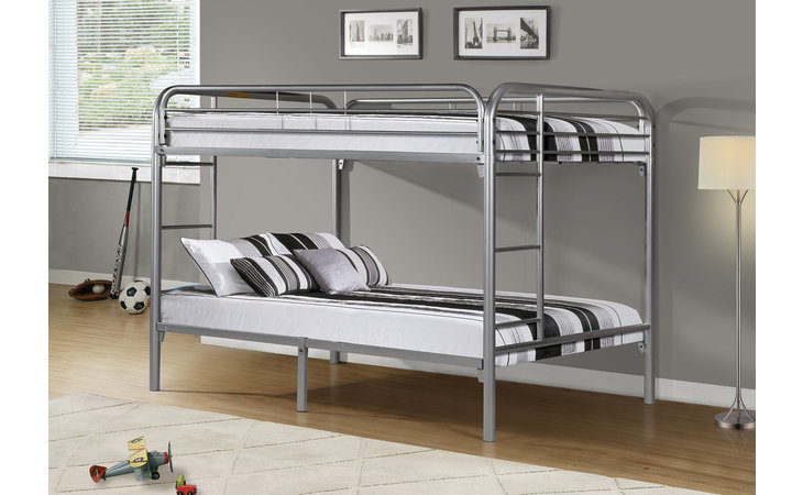 I 2233S  BUNK BED - FULL - FULL SIZE - SILVER METAL